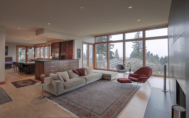 Warm Woods modern-living-room