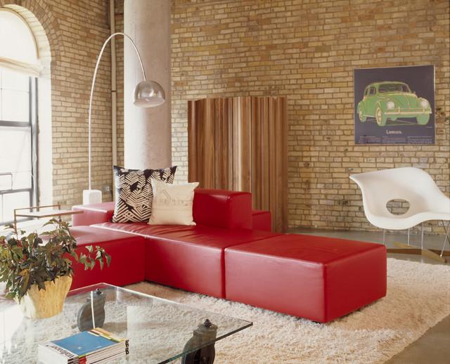 Washburn Loft Living Room contemporary-living-room