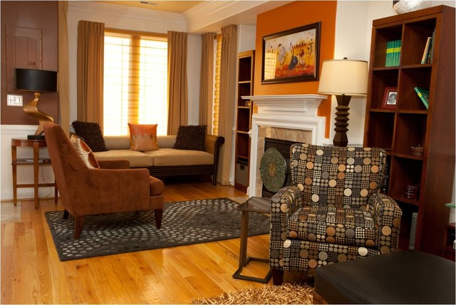Washington d c row house contemporary living room for Best row house designs