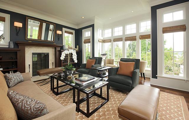 Washington Park Residence Contemporary Living Room Seattle By Richartz Studios Inc