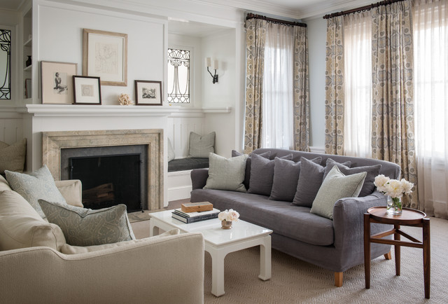 Light & Classic transitional-living-room