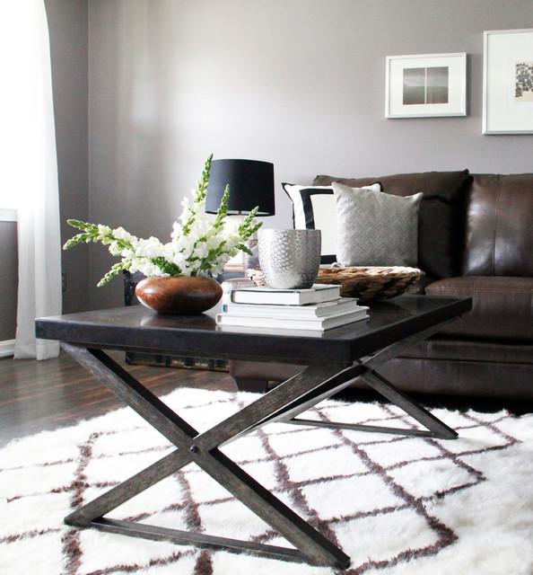 Washington Street Contemporary living room