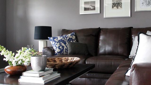 Washington Street Contemporary Living Room Los
