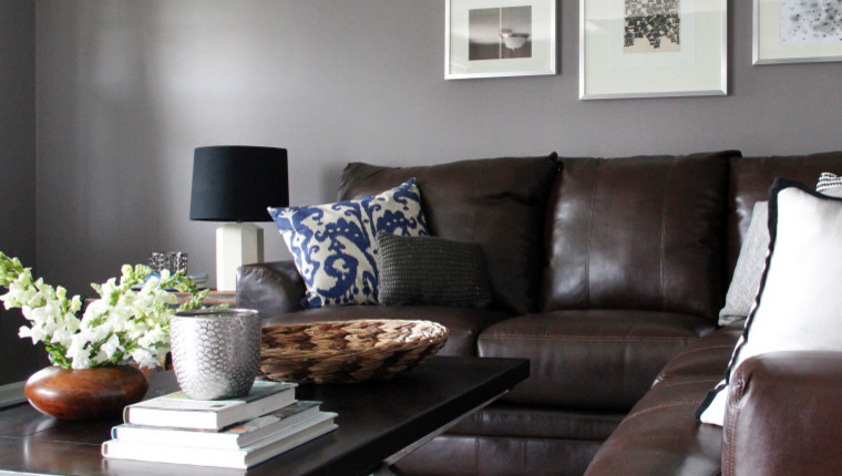 Gray Walls Brown Furniture Houzz
