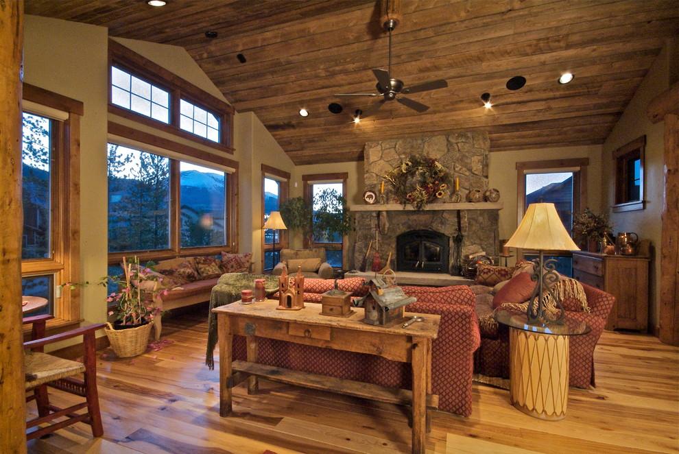 Living room - traditional living room idea in Denver