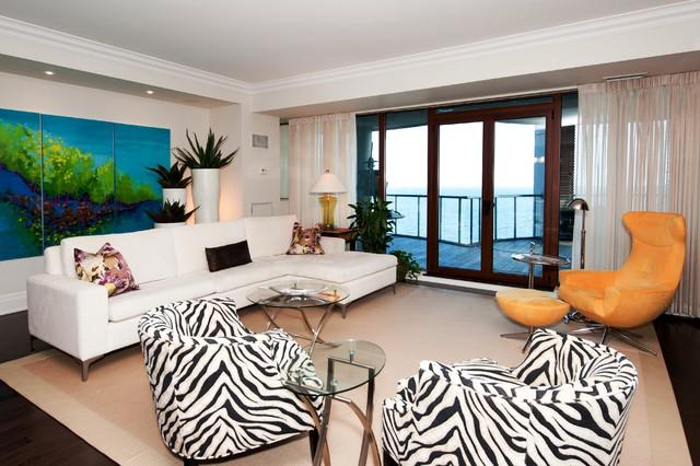 Waterford Condominium Eclectic Living Room Toronto