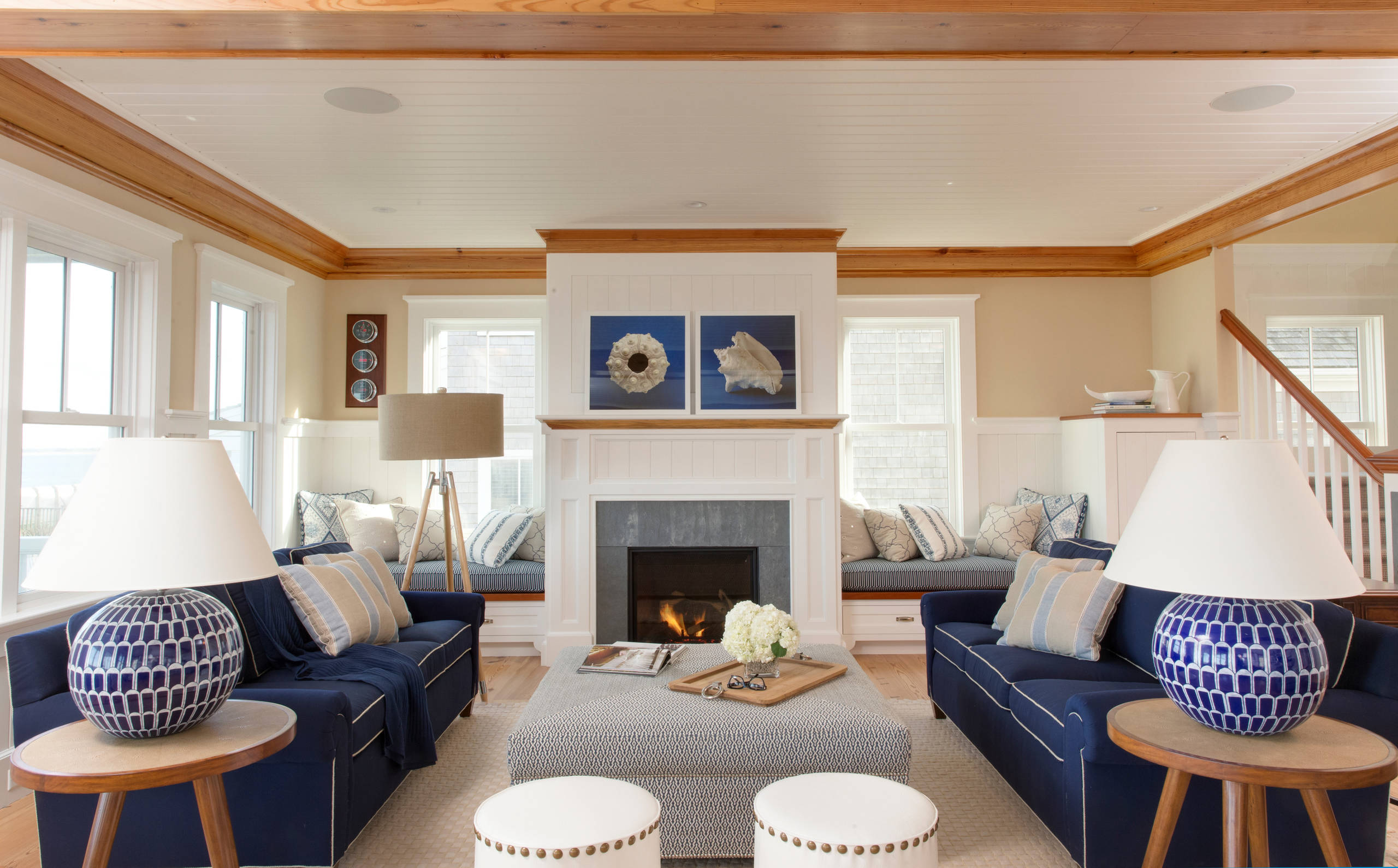 Picture of: Navy Blue Living Room Ideas Photos Houzz