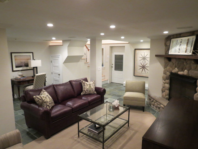 Waterfront Home transitional-living-room