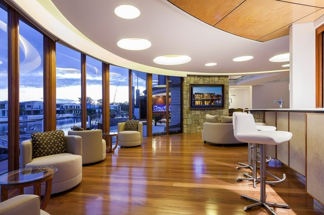 Waterfront House - Pelican Waters contemporary-living-room