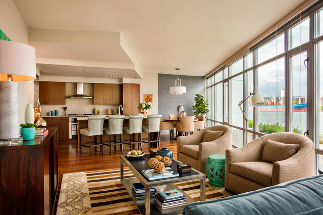 Waterfront Pearl Condo - Two Bedroom contemporary-living-room