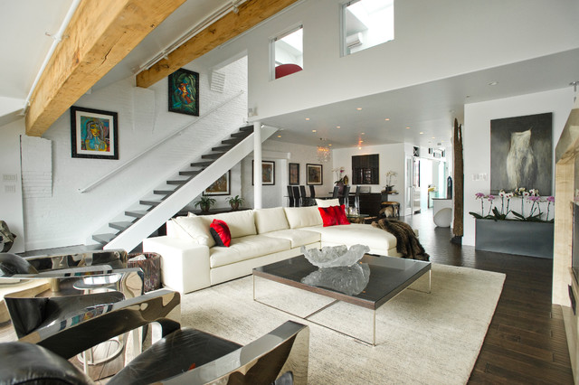 Waterfront penthouse contemporary-living-room