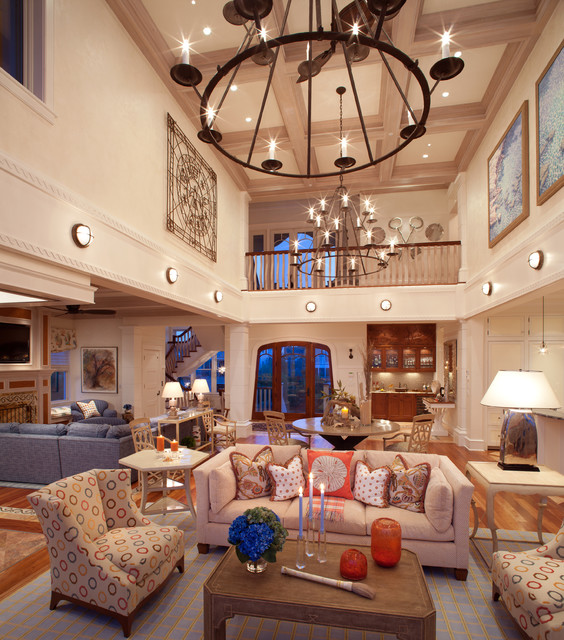 Waterfront Retreat beach-style-living-room