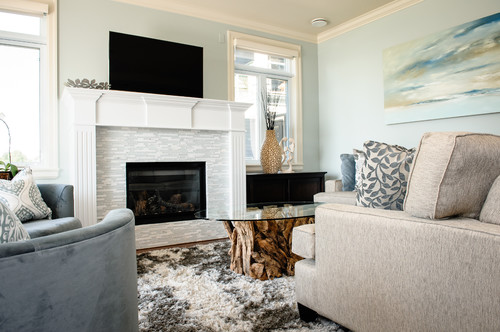 Beach Style Living Room by Richmond Interior Designers & Decorators ...
