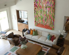 Watermill Residence Interiors contemporary-living-room