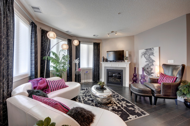 Waterstone Contemporary Living Room Edmonton By