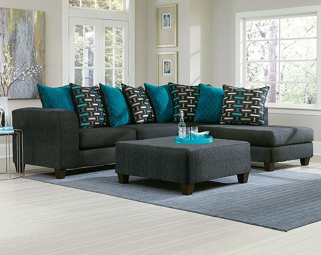 Watson Two Piece Sectional Sofa Traditional Living Room