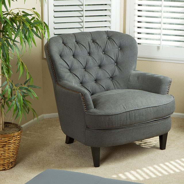 Watson royal vintage design upholstered arm chair modern - Modern upholstered living room chairs ...