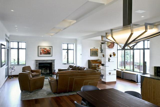 Waverly Penthouse modern-living-room