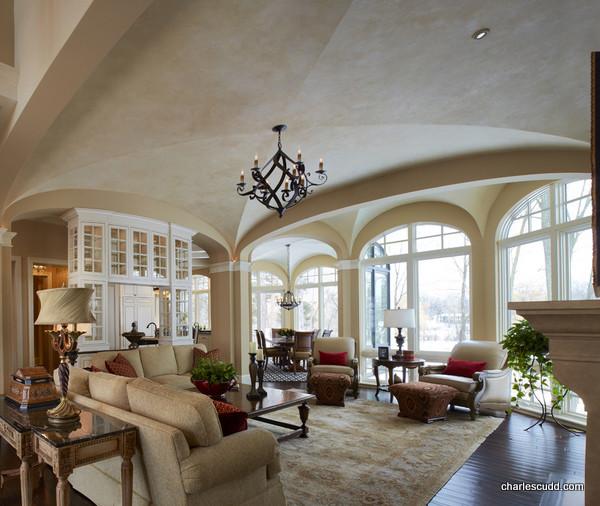 Wayzata Custom Home traditional-living-room