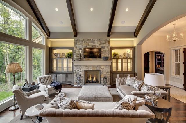 Charming Wayzata Dream Home Great RoomTransitional Living Room, Minneapolis