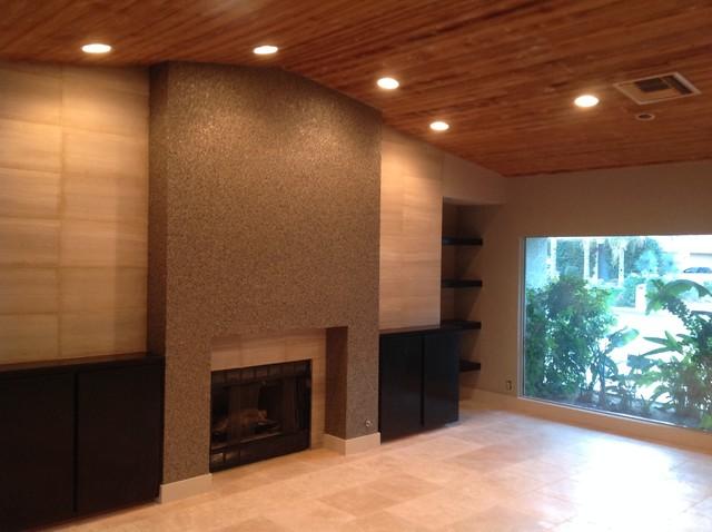 We Hang Custom Wallpapers Modern Living Room Other