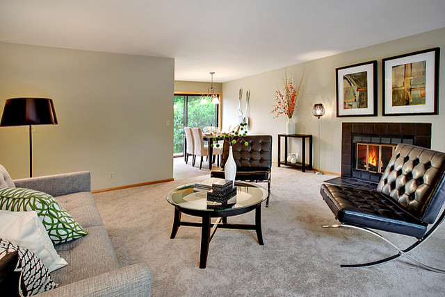 Wedgwood Split Level Contemporary Living Room