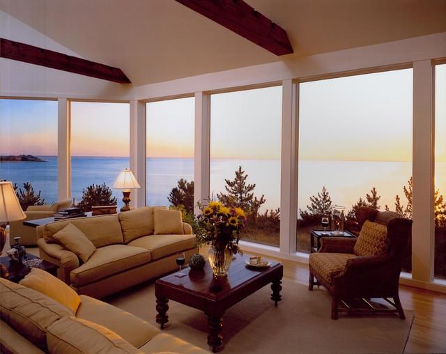 Wellfleet House, Cape Cod traditional-living-room