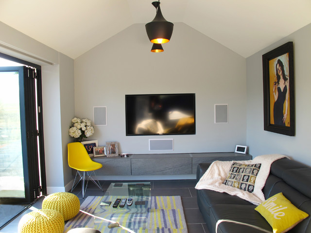 Welwyn Upside Down House Contemporary Living Room