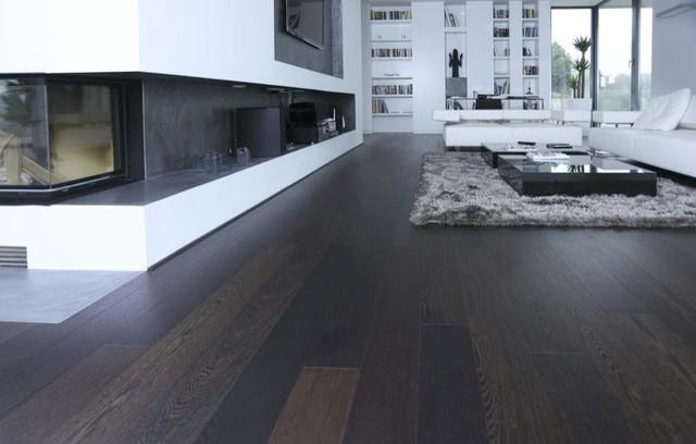 Wenge Flooring Modern Living Room Miami By Arimar