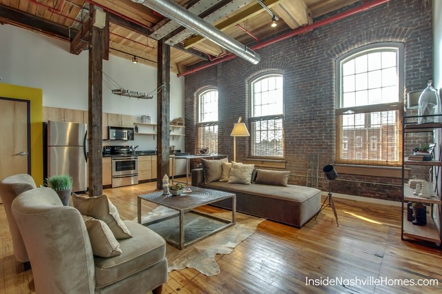 Werthan Lofts Contemporary Living Room Nashville