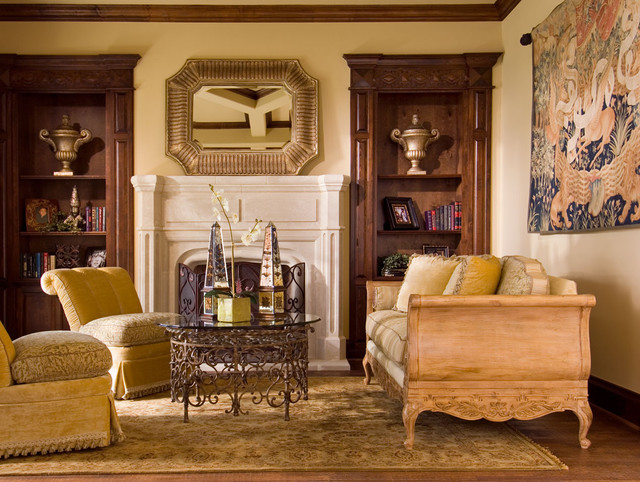 Wesley-Wayne Living and Family Rooms traditional-living-room
