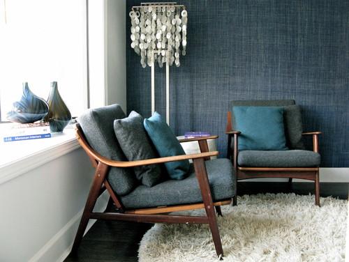 wohnzimmer bar würzburg:Blue Denim Living Room Accent Wall In