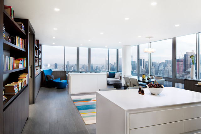 West 67th st residence contemporary living room new for W living room new york