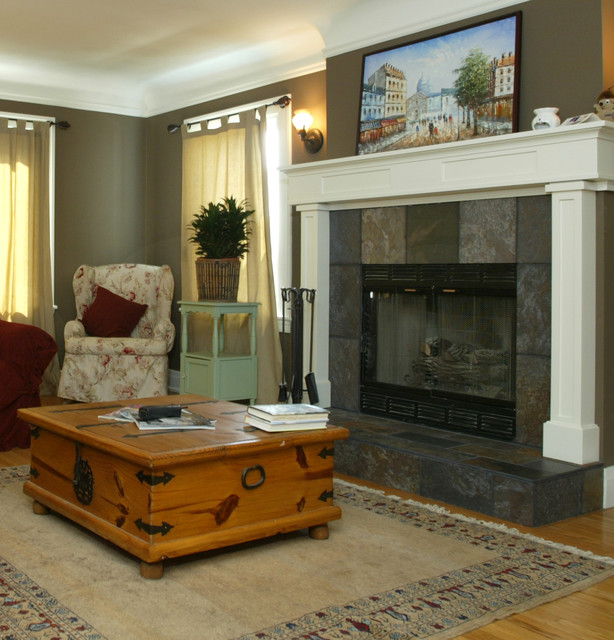 West Adams Fireplace Remodel Traditional Living Room Other Metro By Custom Design