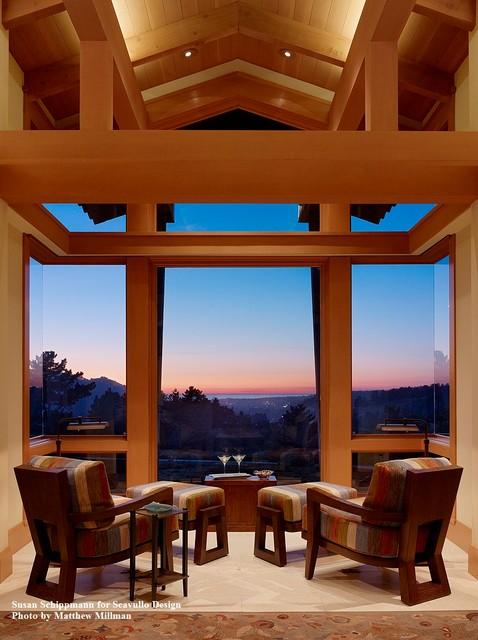 West Coast Farmhouse Transitional Living Room San