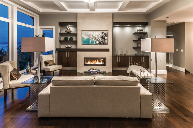 Good West Coast Modern Transitional Living Room