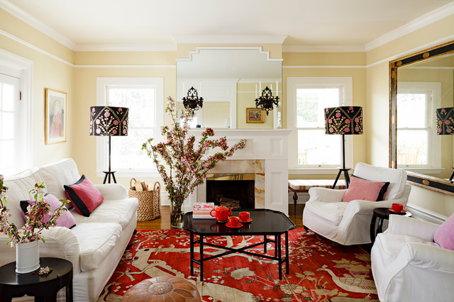 Traditional Living Room Pictures west hills victorian - traditional - living room - portland -