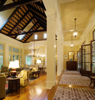 West Indies Meets Lowcountry Traditional Living Room