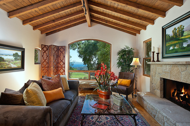 West Mountain Rustic Living Room Santa Barbara By