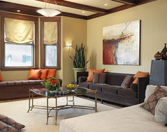 West Newton Residence traditional-living-room