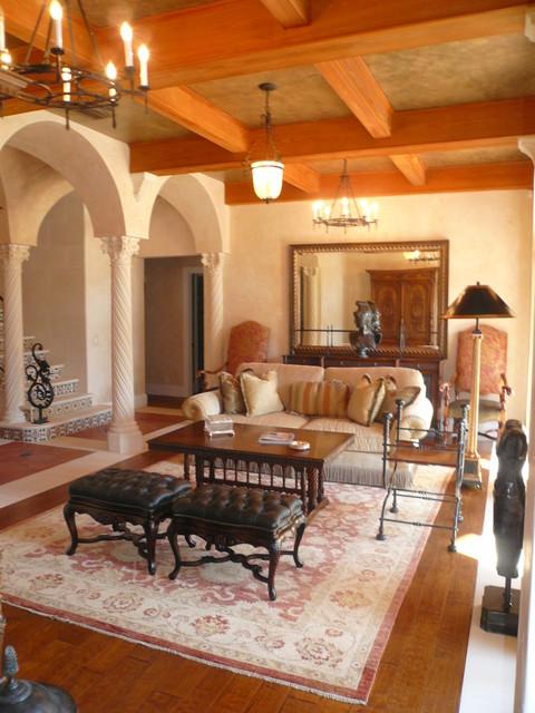 West Palm Beach Residence mediterranean-living-room