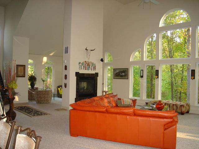 West River Custom Residence contemporary-living-room
