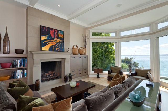 West Vancouver Oceanfront contemporary-living-room
