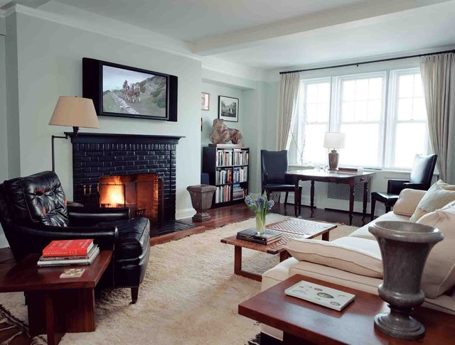West Village Apartment traditional-living-room