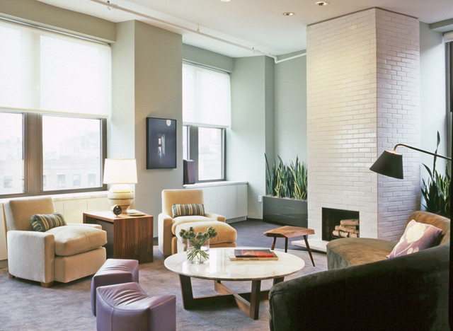 West Village Loft modern-living-room