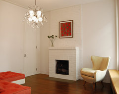West Village Pied-à-terre contemporary-living-room
