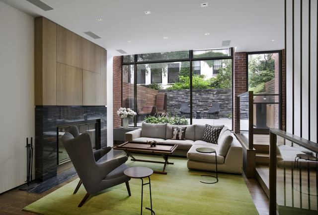 West Village Townhouse Contemporary Living Room New