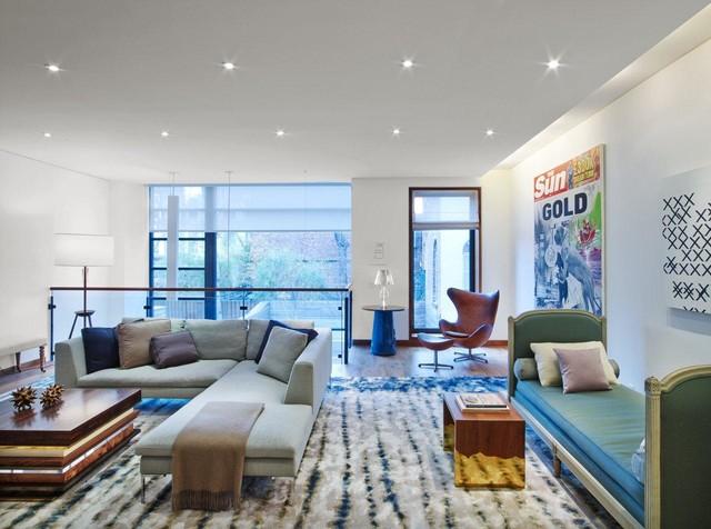 West Village Townhouse Modern Living Room New York