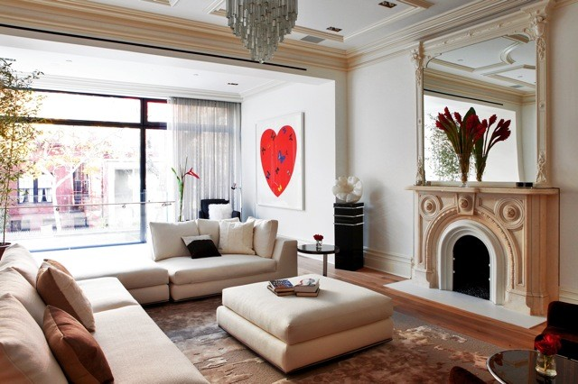 West Village Townhouse contemporary-living-room