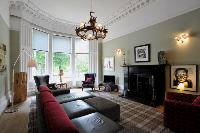 Westbourne transitional living room glasgow by for Designer room glasgow